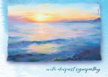 Elegant Sunset Sympathy Cards